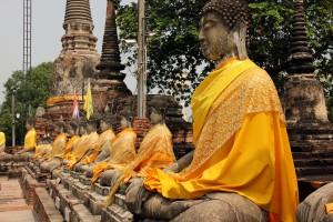 Estatuas-buda-antigua-capital-Tailandia-Ayutthaya