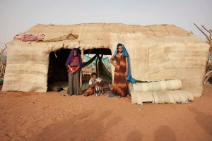 Hamadi family children pose for a picture in their home in Mbera refugee camp
