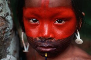 retrato-indio-Kayapo