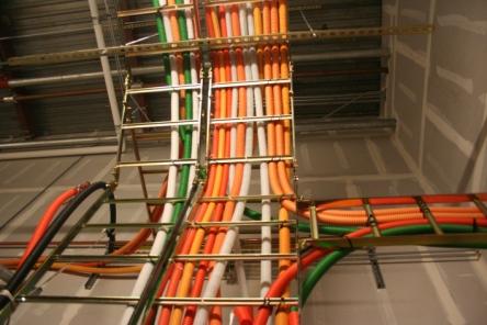 Cables at an Equinix facility.